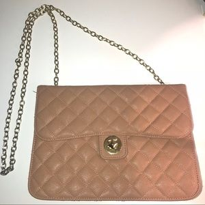 Tan/Beige Quilted Crossbody Bag